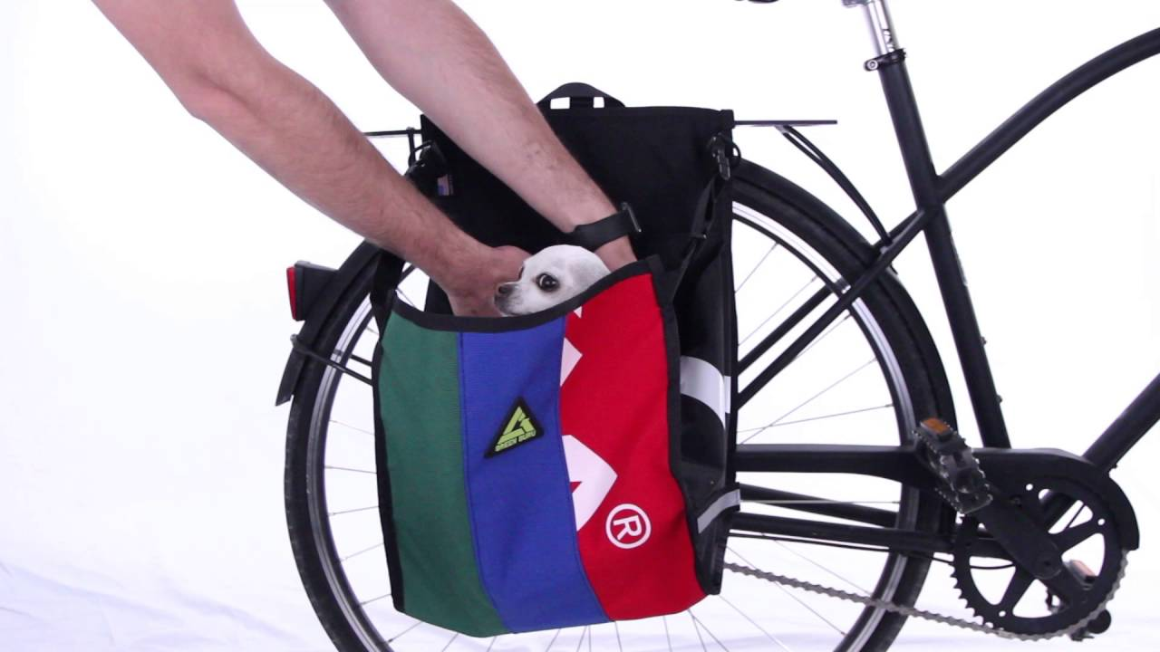 Green Guru Freerider Grocery Pannier Youtube
