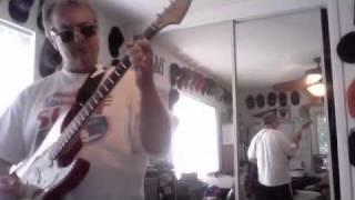Classic rock guitar solo: Cmaj7 to Gmaj7 fade solo
