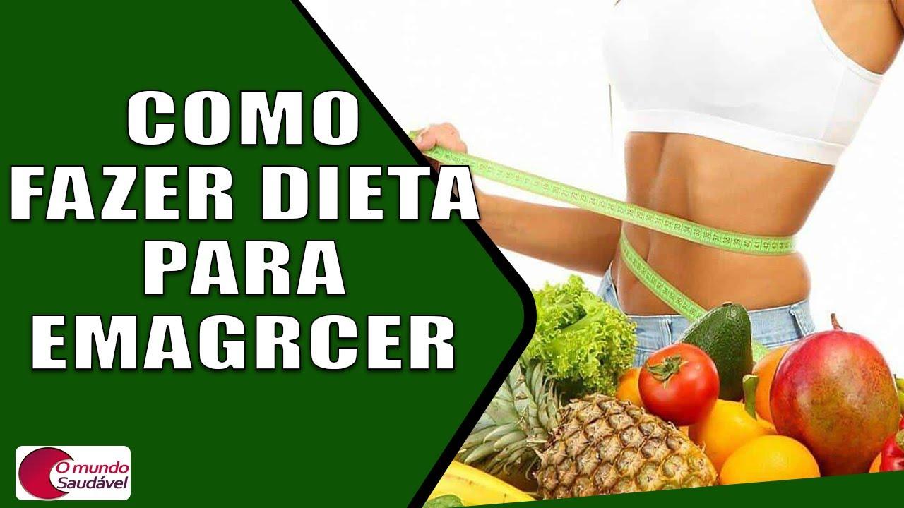 como fazer dieta para emagrecer
