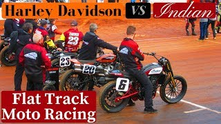 FLAT TRACK RACING HARLEY VS INDIAN