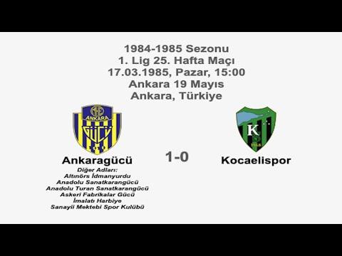 Ankaragücü 1-0 Kocaelispor 17.03.1985 - 1984-1985 Turkish 1st Legaue Matchday 25 | Farklı bir pencereden futbol