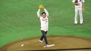 2018 オリオンズ誕生50年目 村田兆治氏が始球式に登場!!