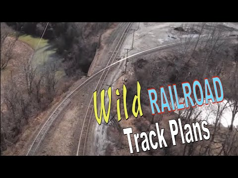 Wild Model Railroad Track Plan Idea based on Prototype!