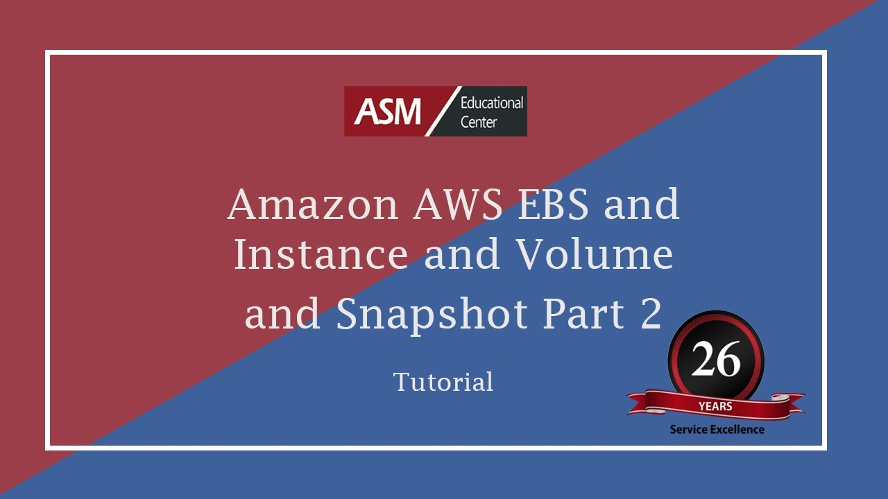 Amazon on baseline - Amazon Aws Ebs And Instance And Volume And Snapshot Part 2