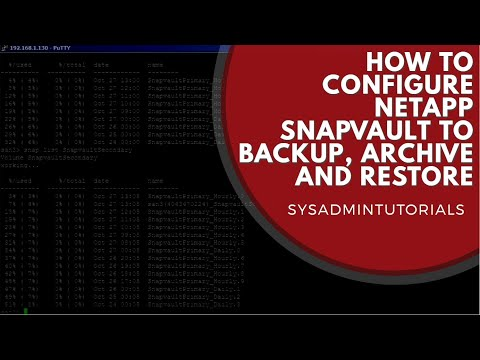 How To Configure Netapp Snapvault To Backup, Archive And Restore