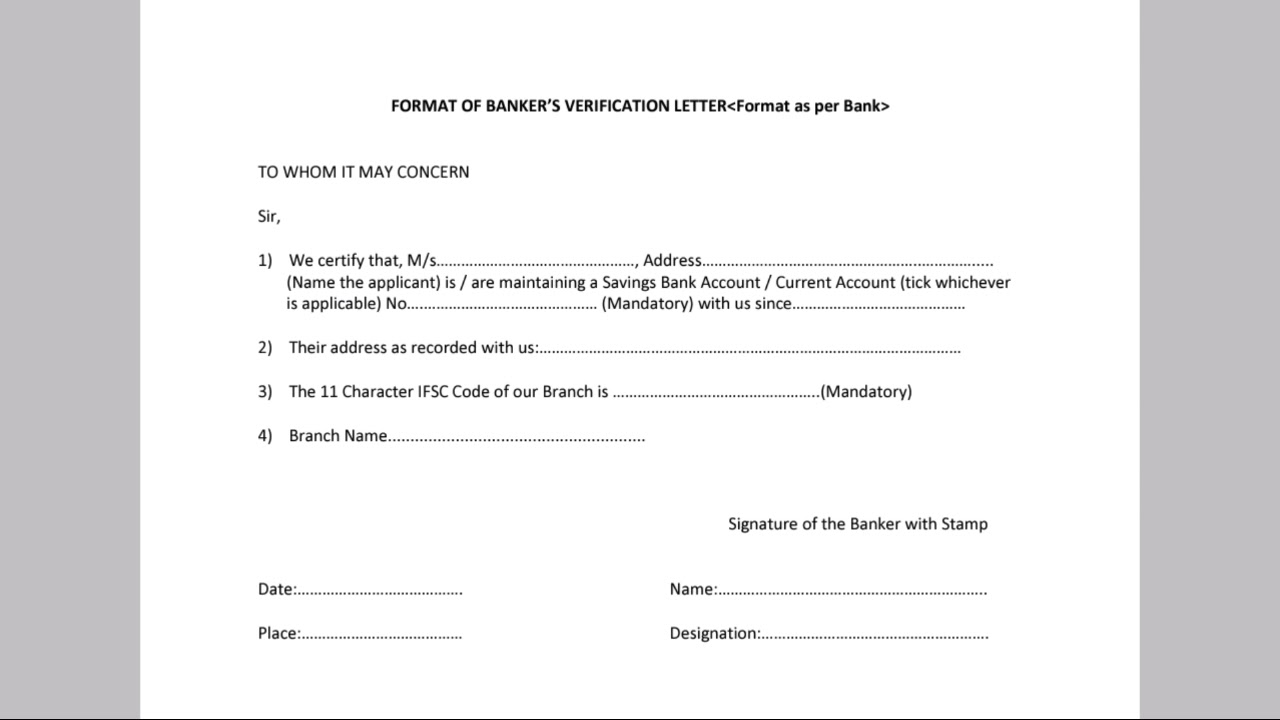 bank account verification form for pacl