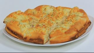 خبز بالجبنة الموتزاريلا والزعتر | نجلاء الشرشابي