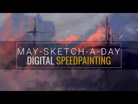 Digital Painting | Sci-Fi Landscape Concept Art | Speed Painting Time Lapse [May-Sketch-A-Day 07]