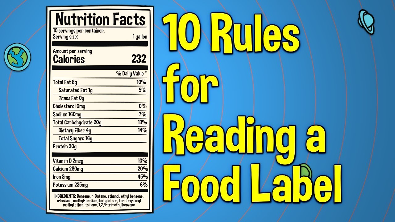 10 Rules For Reading A Food Label Youtube [ 720 x 1280 Pixel ]
