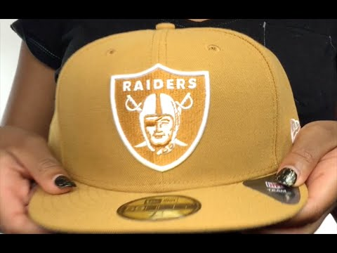 Raiders 'NFL TEAM-BASIC' Wheat-White Fitted Hat by New Era