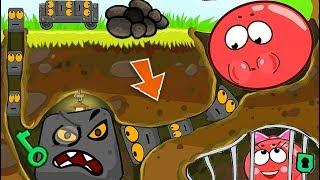 ОГО КАКОЙ МУЛЬТИК ПРО КРАСНЫЙ ШАРИК !!! НАС ПОЙМАЛИ БОССЫ ! Приключение про Red Ball 4 для детей !