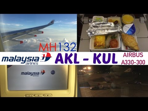 Malaysia Airlines MH132 : Flying from Auckland to Kuala Lumpur