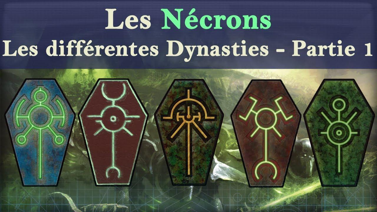 Lore Warhammer 40K - Les Nécrons - Les différentes Dynasties - Partie 1