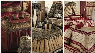 Different types  comfortable bed sheets designs / bridal bed sheets