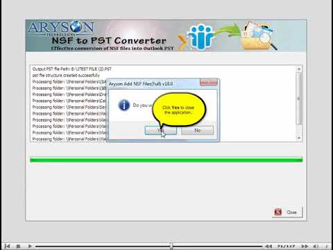 Export Emails from IBM Notes to Outlook using NSF to PST Converter | Aryson