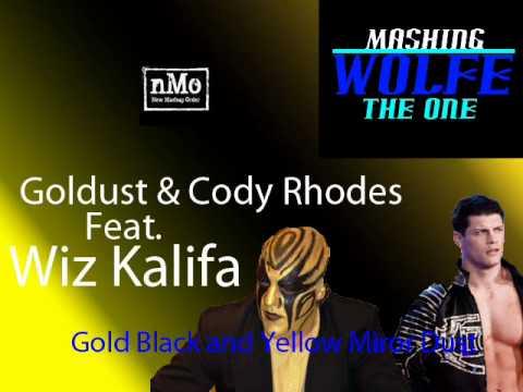 #6 ♦MashingWolfe Mashup ♦ Gold Black and Yellow Mirror Dust