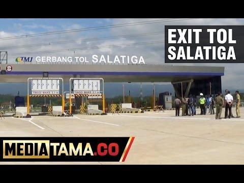 Tentukan Rekayasa Arus, Petugas Survei Exit Tol Salatiga