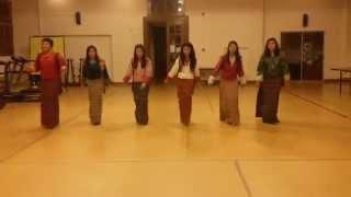 Boedra rehearsal dance by Bhutanese Students of Asian University for Women