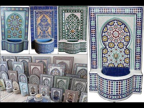 Fuente de mosaico marroqu tradicional youtube for Mosaico marroqui