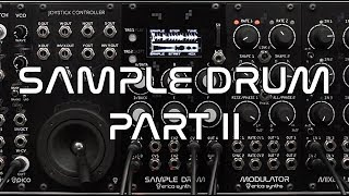 Erica Synths Sample Drum demo (part 2)