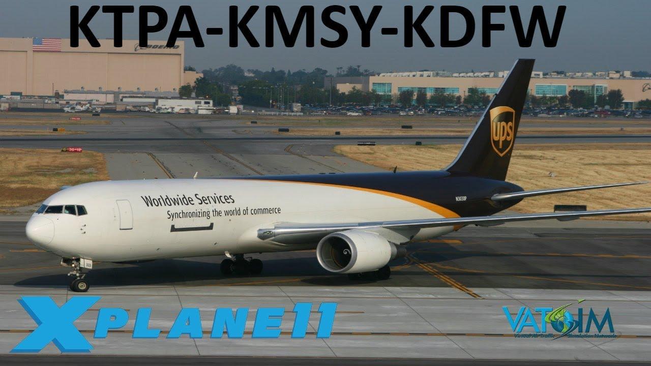 X-Plane 11 | FF 767 Extended!! | B767F | VATSIM | Tampa Bay, New