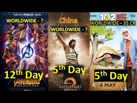 Box Office Collection Of Avengers Infinity War Vs Baahubali 2 Vs 102 Not Out 2018