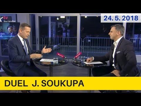 Jiří Zimola, 1.místopředseda ČSSD  v DUELU J. Soukupa