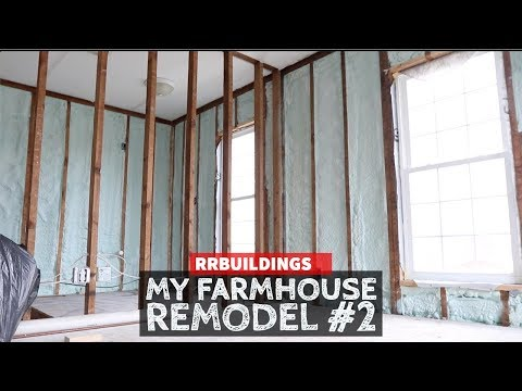 Remodeling My Old Farm House: Spray Foam and Mechanicals