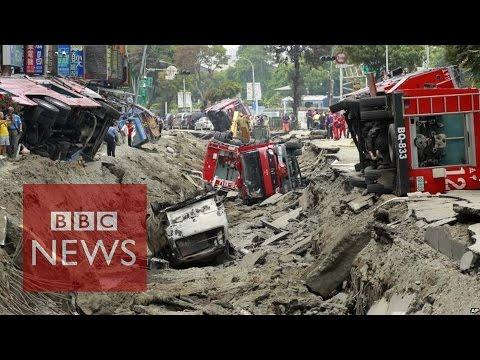 Massive Taiwan gas explosion kills 24 - BBC News