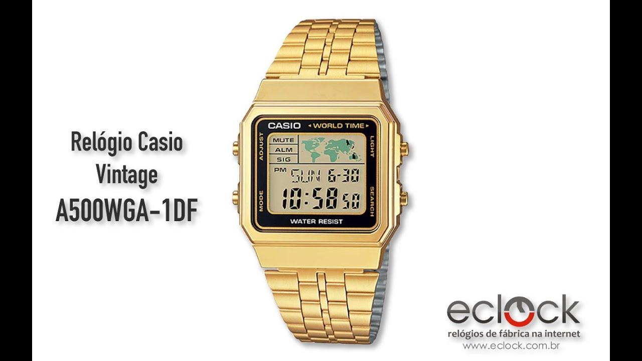4d3b0b87f020 Relógio Casio Vintage A500WGA-1DF - Eclock - YouTube