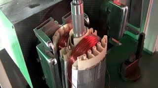 Automatic Exhuast Fan Motor BLDC Outer Rotor Coil Winding Machine