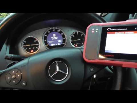 Mercedes W204 ABS Warning Light Reset Rear ABS Sensor Fault