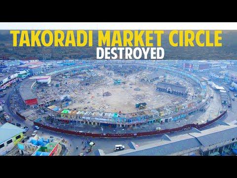 TAKORADI MARKET CIRCLE DESTROYED.