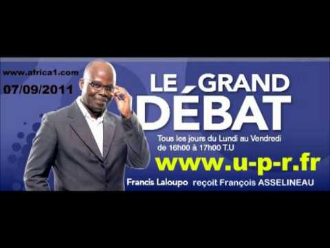 François ASSELINEAU à la radio AFRICA N°1 (07-09-2011)