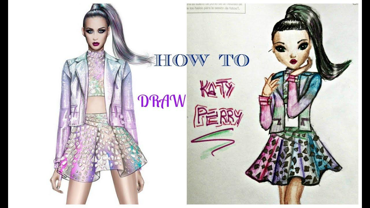 ♥Tutorial dibujar a Katy Perry♥ - YouTube