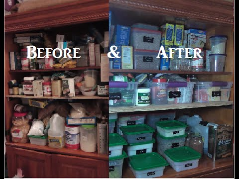 How To Organize Pantry Using Cambro Storage Containers & Chalkboard Labels