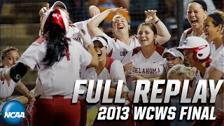 Oklahoma vs. Tennessee: 2013 Women's College World Series | FULL REPLAY