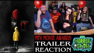 stephen king s it 2017 mtv movie awards trailer 2 reaction the horror show