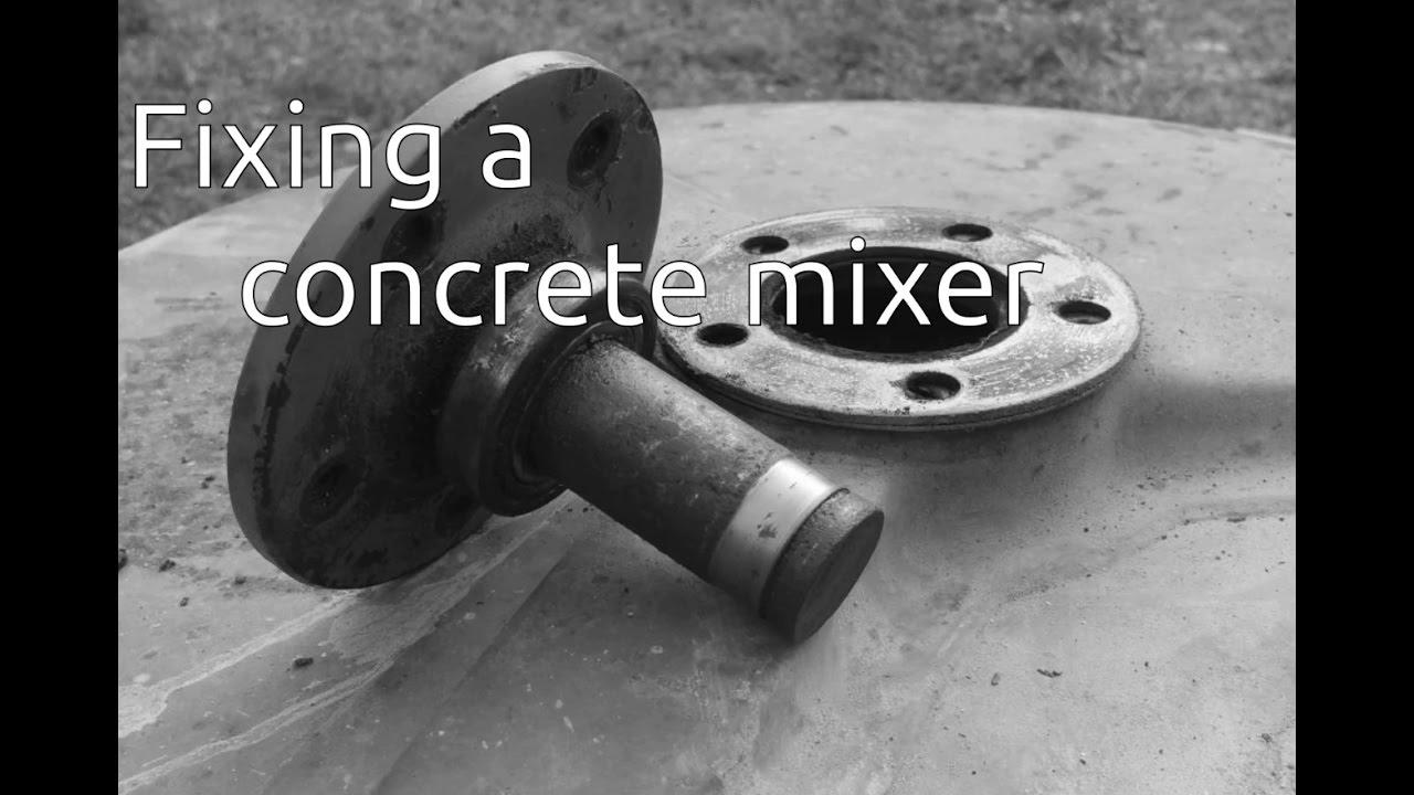 Fixing a concrete mixer on