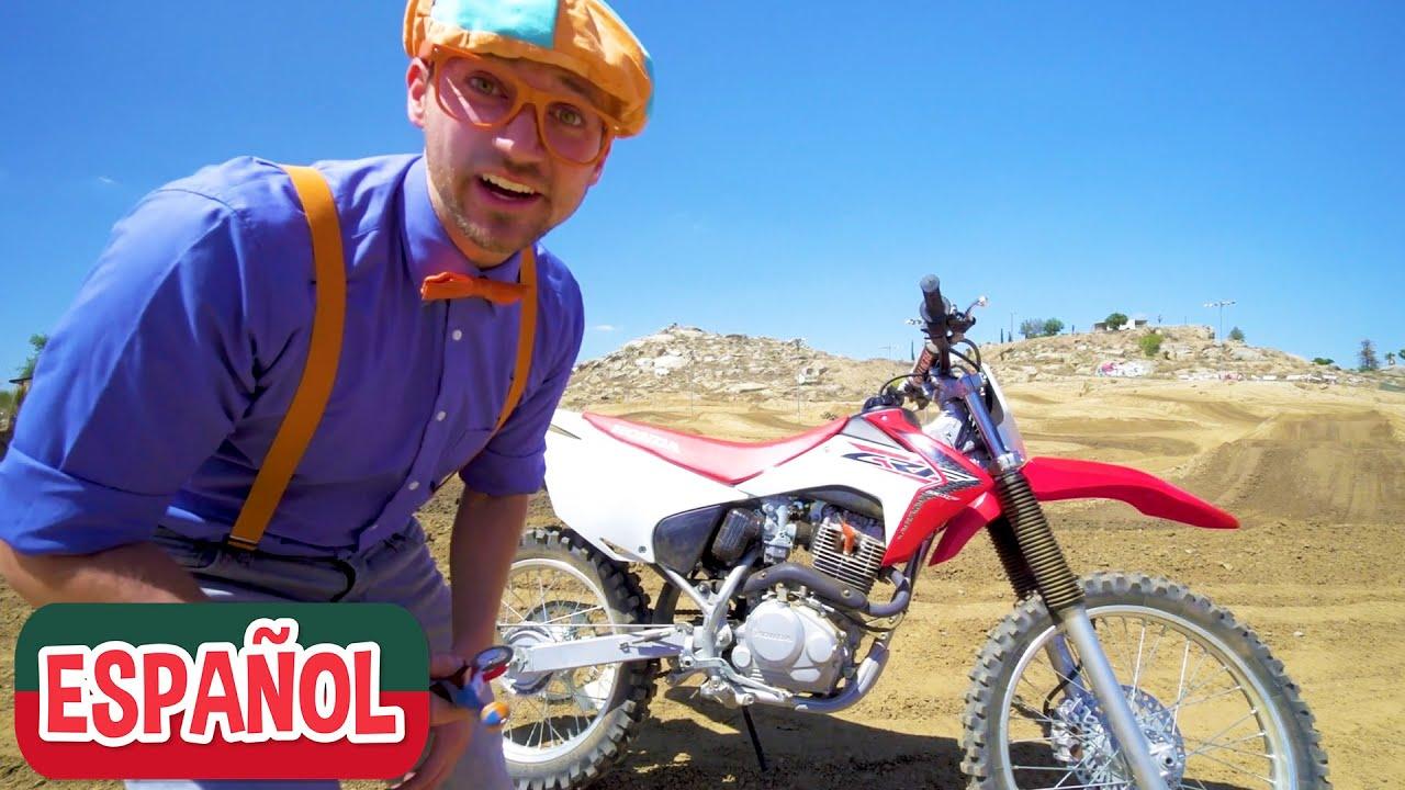 Blippi explora una motocicleta   Vehículos para niños   Videos educativos para niños