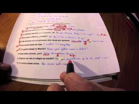 Inglés Examen Present Simple Corrección
