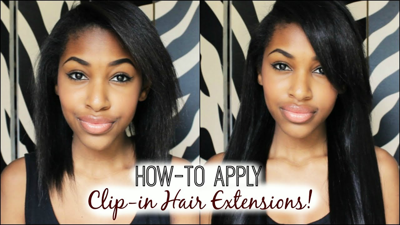 How to apply clip in hair extensions youtube pmusecretfo Choice Image