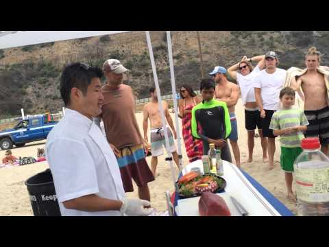 Sushi on the Beach with Chef Travis Kamiyama!