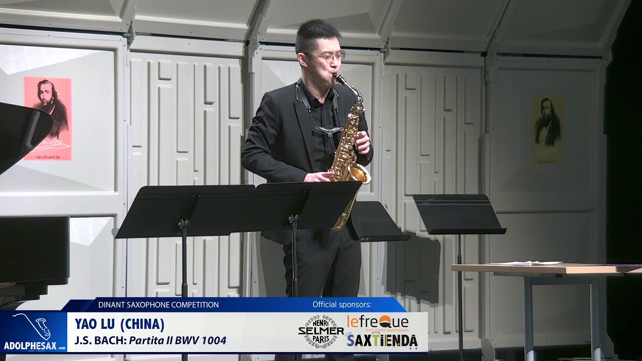 Yao Lu (China) - Partita II BWV 1004 by  J.S.Bach (Dinant 2019)