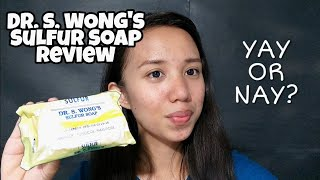 GOODBYE PIMPLES IN ONE WEEK?! 😍 (DR WONG SULFUR SOAP REVIEW)