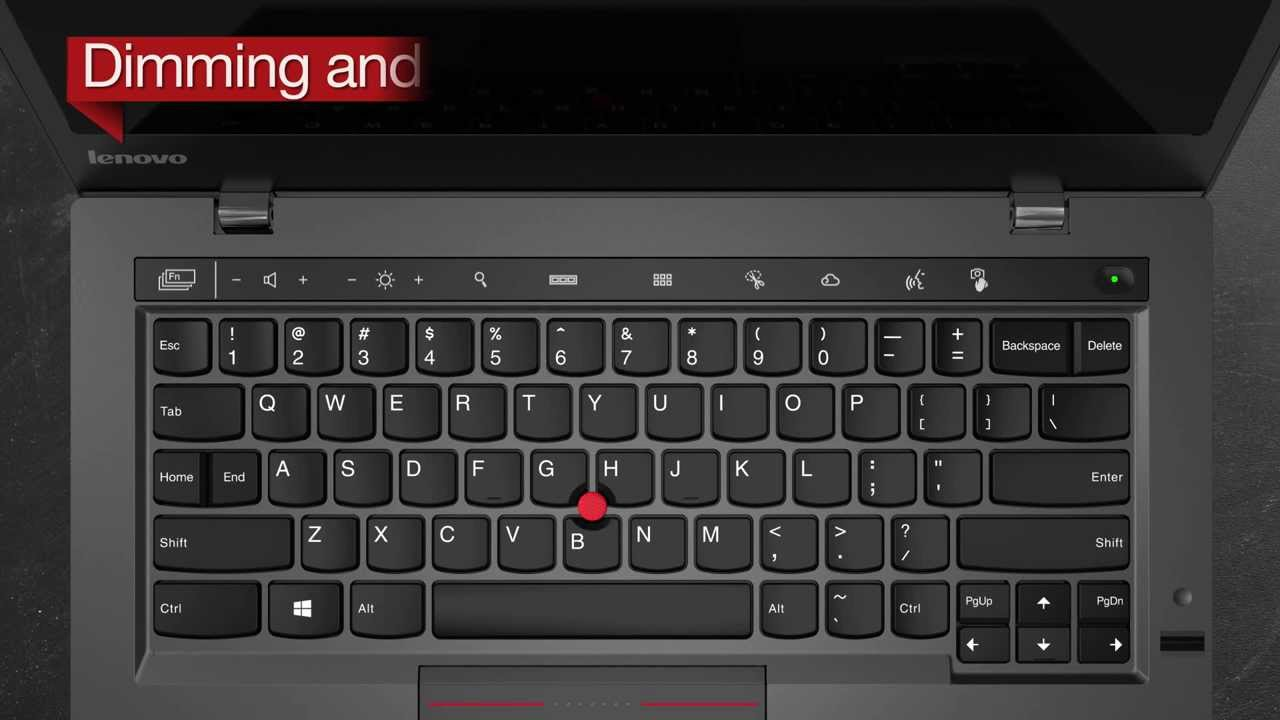 The New X1 Carbon: Dim and Wake up the Adaptive Keys - YouTube