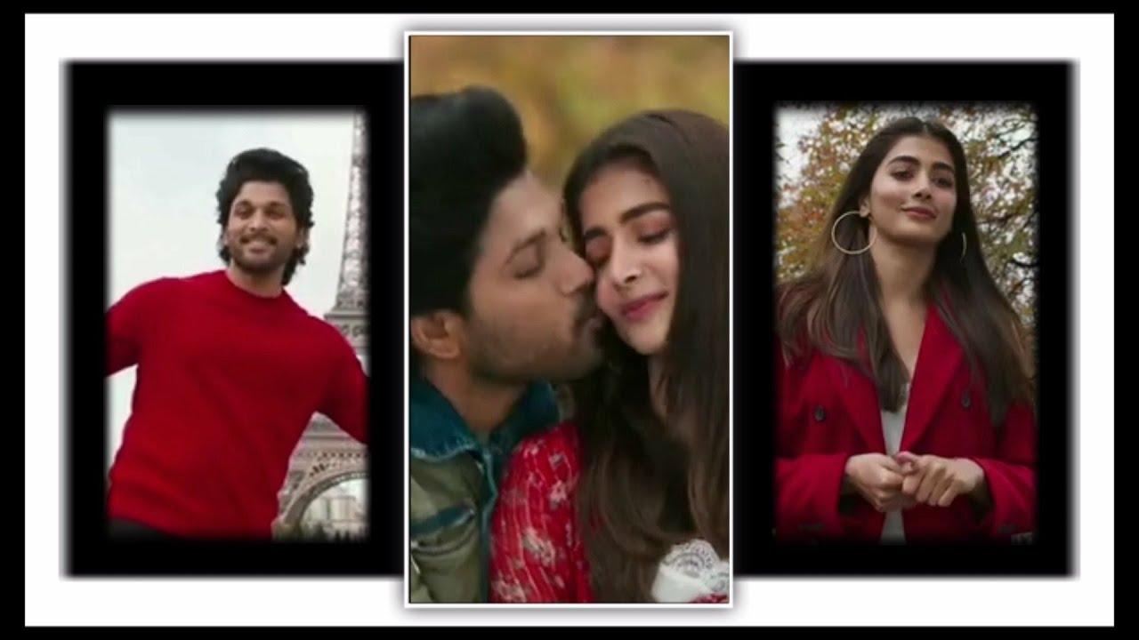 Allu Arjun and Pooja Hegde romantic status | Stereo hearts X Zaalima remix status #love #cute