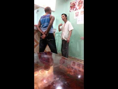 Drunk Trinidadian vs Chinese cuss out in trinidad