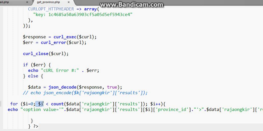 province data parsing from JSON API with PHP from rajaongkir - YouTube