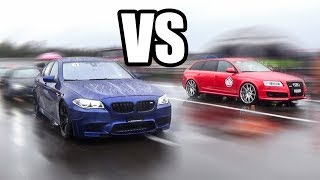 BMW M5 F10 vs AUDI RS6 - RACE!